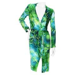 Gianni Versace Print Jersey Dress SS2000