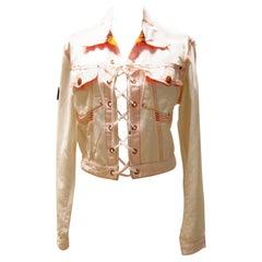 White Jean Paul Gaultier Lace-Up Jacket