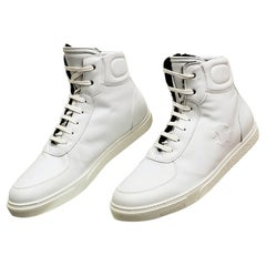 ROBERTO CAVALLI WHITE LEATHER FUR LINED SHEARLING Sneakers 41.5;43;44;44.5;45