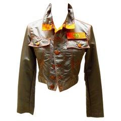 Dark Grey Nylon Jean Paul Gaultier Cropped Jacket