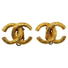 CHANEL Earrings Vintage 1970s