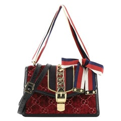Gucci Sylvie Shoulder Bag GG Velvet Small