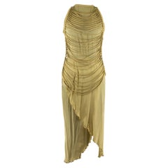 Jean Claude Jitrois Beige and Taupe Maxi Dress