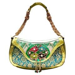 2000s Etro Milano Multi Color Enamelled Jewelled Shoulder Bag