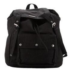 Saint Laurent Noe Backpack Canvas Large
