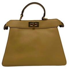 Fendi Beige Leather Peekaboo Bag