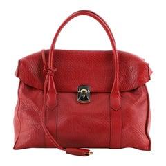 Balenciaga Padlock Flap Tote Leather Medium