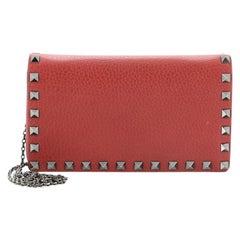 Valentino Rockstud Chain Flap Crossbody Bag Leather Small