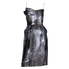 Bill Blass Fall 2008 Platinum Jacquard Evening Bustier Dress Peter Som New w/tag