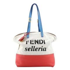 Fendi Selleria 2Bag Canvas and Leather