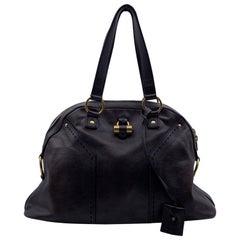 Yves Saint Laurent Brown Leather Muse Tote Shoulder Bag