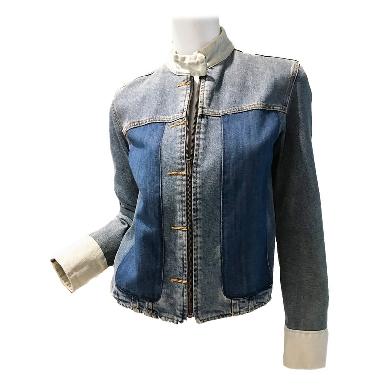 Martin Margiela Artisanal distressed denim jacket  For Sale