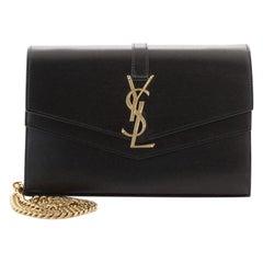Saint Laurent Sulpice Chain Wallet Leather