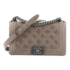 Chanel Double Stitch Boy Flap Bag Quilted Calfskin Old Medium