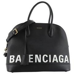 Balenciaga Logo Ville Bag Leather Medium