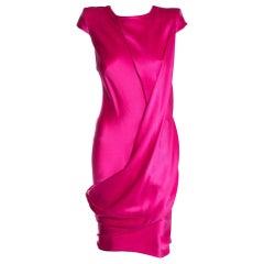 2008 Vintage Alexander McQueen Hot Pink Dress