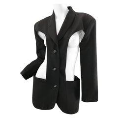 1980s Jean Paul Gaultier cut out blazer