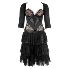 Vintage Alexander McQueen Black Lace dress