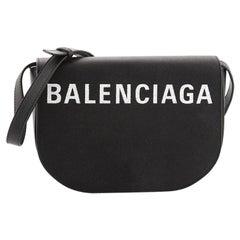 Balenciaga Logo Ville Day Bag Leather Small