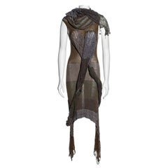 Vivienne Westwood striped open knit dress with tubular scarf, ss 2005