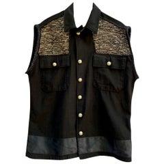 Vest Sleeveles Jacket Black Gold Black Lurex Tweed Embellished J Dauphin