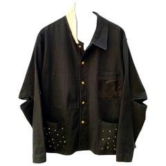 Rhinestone Jacket Black French Work Wear White Silk Embellished J Dauphin