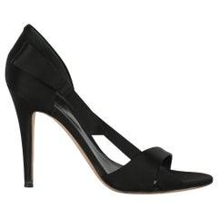 Sergio Rossi Women Sandals Black Fabric EU 40.5
