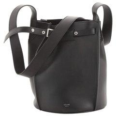 Celine Long Strap Big Bag Bucket Leather