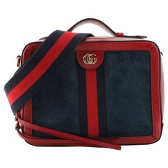 Gucci Ophidia Handle Shoulder Bag Suede Small
