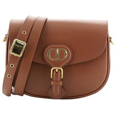 Christian Dior Bobby Flap Bag Leather Medium