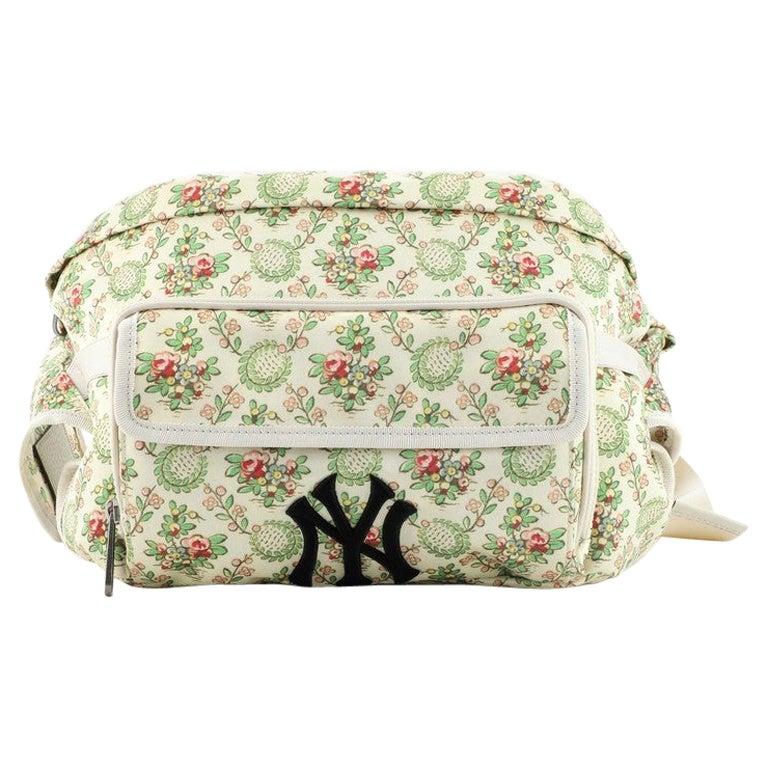 Gucci MLB Convertible Belt Bag Printed Satin with Applique