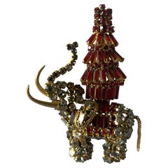 Roger Jean-Pierre Elephant Pagoda Brooch