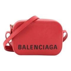 Balenciaga Logo Ville Camera Bag Leather XS