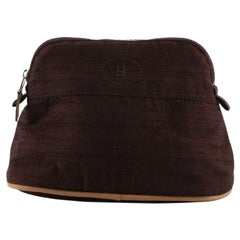 Hermes Bolide Travel Pouch Textured Silk Mini