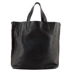 Saint Laurent Side Zip Shopper Tote Leather Tall