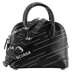 Balenciaga: Ville Bag Printed Leather XXS