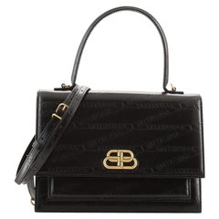 Balenciaga Sharp Top Handle Bag Embossed Leather Medium