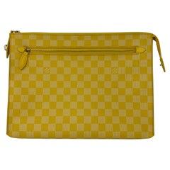 Louis Vuitton Yellow Checkered Pouch