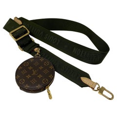 Louis Vuitton Khaki Green Strap Coin Bag
