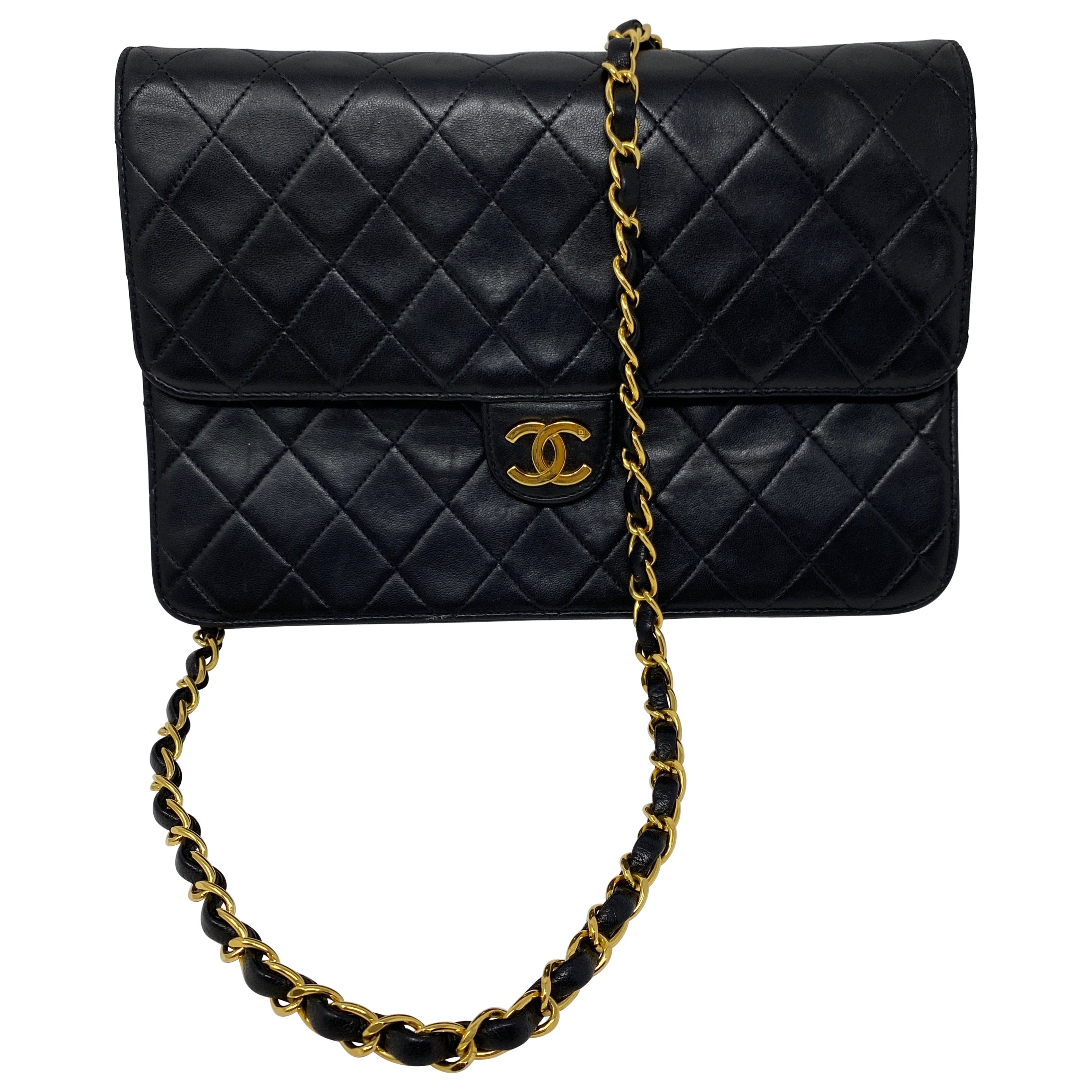 Chanel Black Clutch Bag Chain Strap
