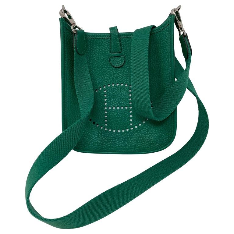 Hermes Vertigo Green Evelyne TPM Bag For Sale