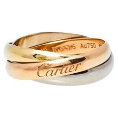 Cartier Trinity De Cartier 18K Three Tone Gold Band Ring