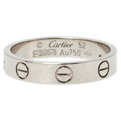 Cartier Love 18K White Gold Wedding Band Ring Size 52