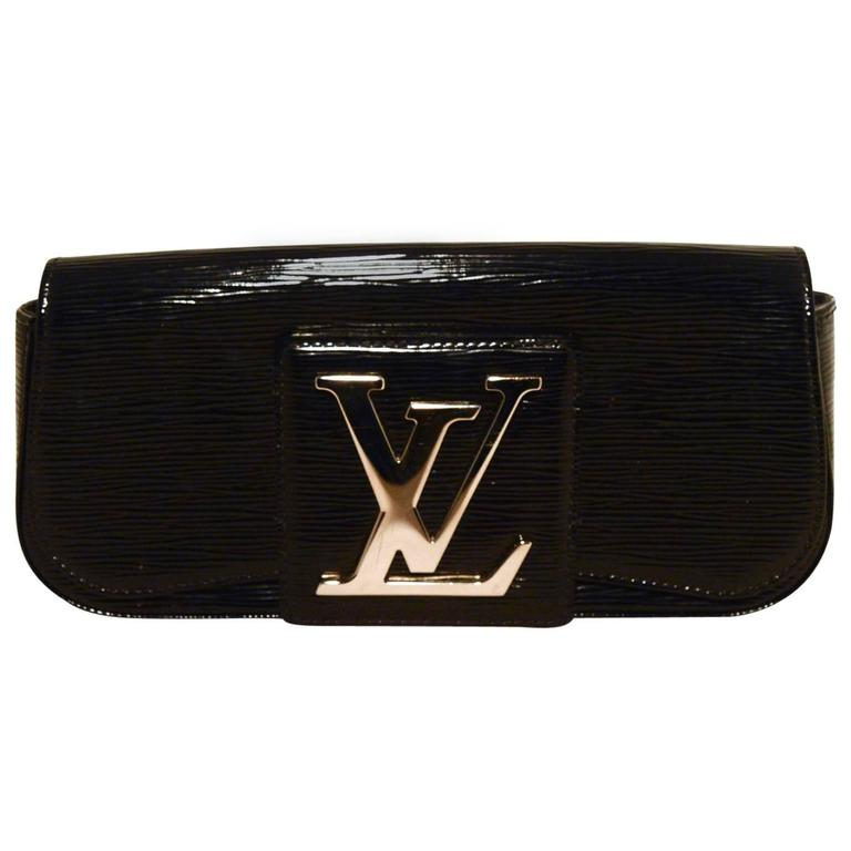 Louis Vuitton Black Epi And Patent Leather Clutch For