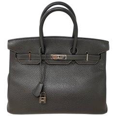 Hermes Birkin 35 Graphite Bag