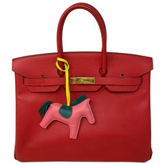 Hermes Birkin 35 Bougainvillea Epsom Bag