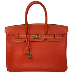 Hermes Birkin 35 Rose Jaipur/ Gold Candy Bag