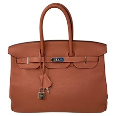 Hermes Birkin 35 Rose Tea Bag
