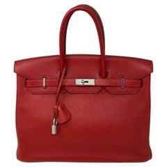 Hermes Birkin 35 Rouge Garance Bag