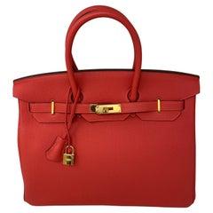 Hermes Birkin 35 Rouge Pivoine Bag